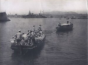 Boat-Military-WW1-Big-Large-Guerre-Italy-Vintage-Silver