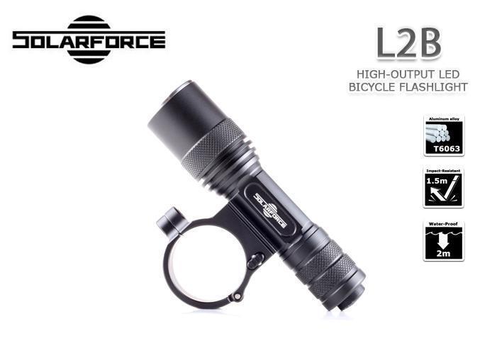 NUOVA luce Solarforce L2B L2B L2B BICI BICICLETTA CREE XP-l V6 830 LUMEN Torcia LED f7a011