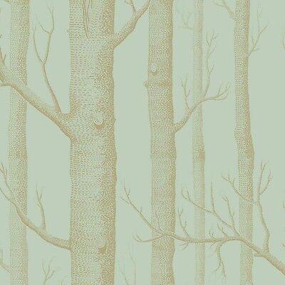 Cole & Son Woods Wallpaper - Birch Tree Branches - Eau De Nil (Mint) & Gold