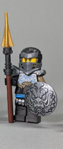 LEGO Mini Figure Journey to the Skull Dungeons Hero Nya with Weapons from 71717