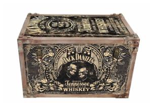 Jack-Daniels-Whisky-Metal-Storage-Chest-Trunk-Case-Retro-Vintage-Large-Tool-Box