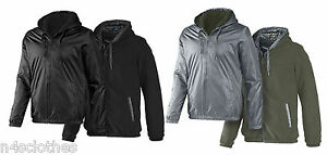 Reversible Mens Size Sherpa Neo Black Adidas Grey Jacket Hoodie BwHqnw5d