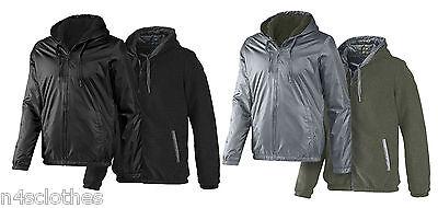 ADIDAS homme réversible à capuche veste Sherpa neo gris noir Taille XS S M L | eBay