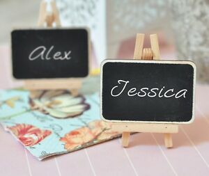 Image Is Loading Set Of 2 Chalkboard Easel Wedding Place Card