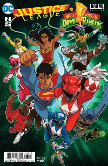 Justice League Power Rangers #5 NM 2017 Stock Image