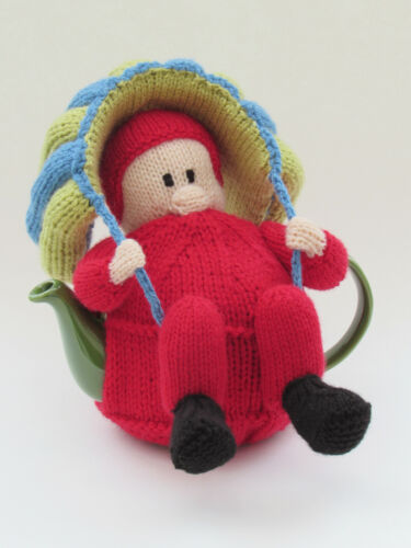 parachute jump Parachutist Tea Cosy Knitting Pattern to knit your own skydiver