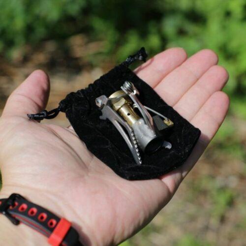 Outdoor Stove Titanium Alloy Folding Mini Camping Survival Furnace Stove Pocket