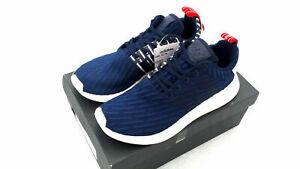 Da-Uomo-Adidas-NMD-R2-Lavorato-A-Maglia-Scarpe-Da-Ginnastica-Corsa-Prime-RRP-130-UK-8-e-9