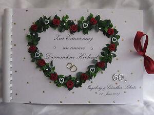 Gästebuch Fotoalbum Diamantene Hochzeit Geschenkidee Ebay