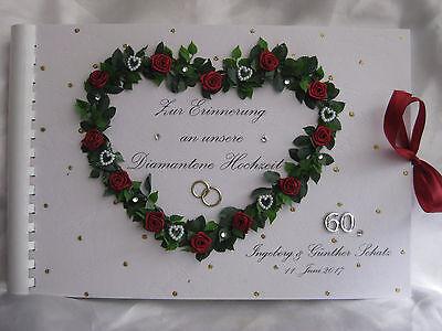 Gastebuch Fotoalbum Diamanten Hochzeit Diamantene Hochzeit Geschenk Geschenkidee Ebay