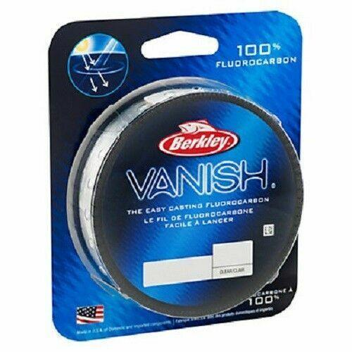 Berkley Clear Vanish 50 Yds 8 Lbs 100/% Fluorocarbon Leader Fishing Line