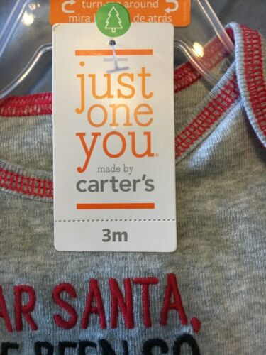 I/'ve Been Good Carter/'s Details about  /Baby/'s 1st First Christmas Dear Santa 2 pieces 3M