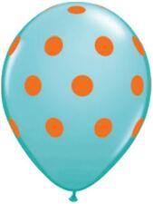 "10pc 11"" Carribean Blue Qualatex Big Polka Dot Colorful Latex Balloon Decoration"