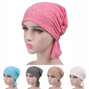 Bufanda-Sombrero-Beanie-Hijab-Turbante-Quimio-Cap-La-perdida-de-cabello-Cancer