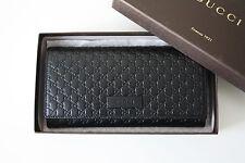 GUCCI 449396 Portafoglio/portamonete monogramma pelle nera wallet
