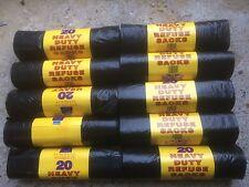 200 XBLACK Heavy Duty orti Bidone Spazzatura Rifiuti Sacchetti della Spazzatura Immondizie FODERE