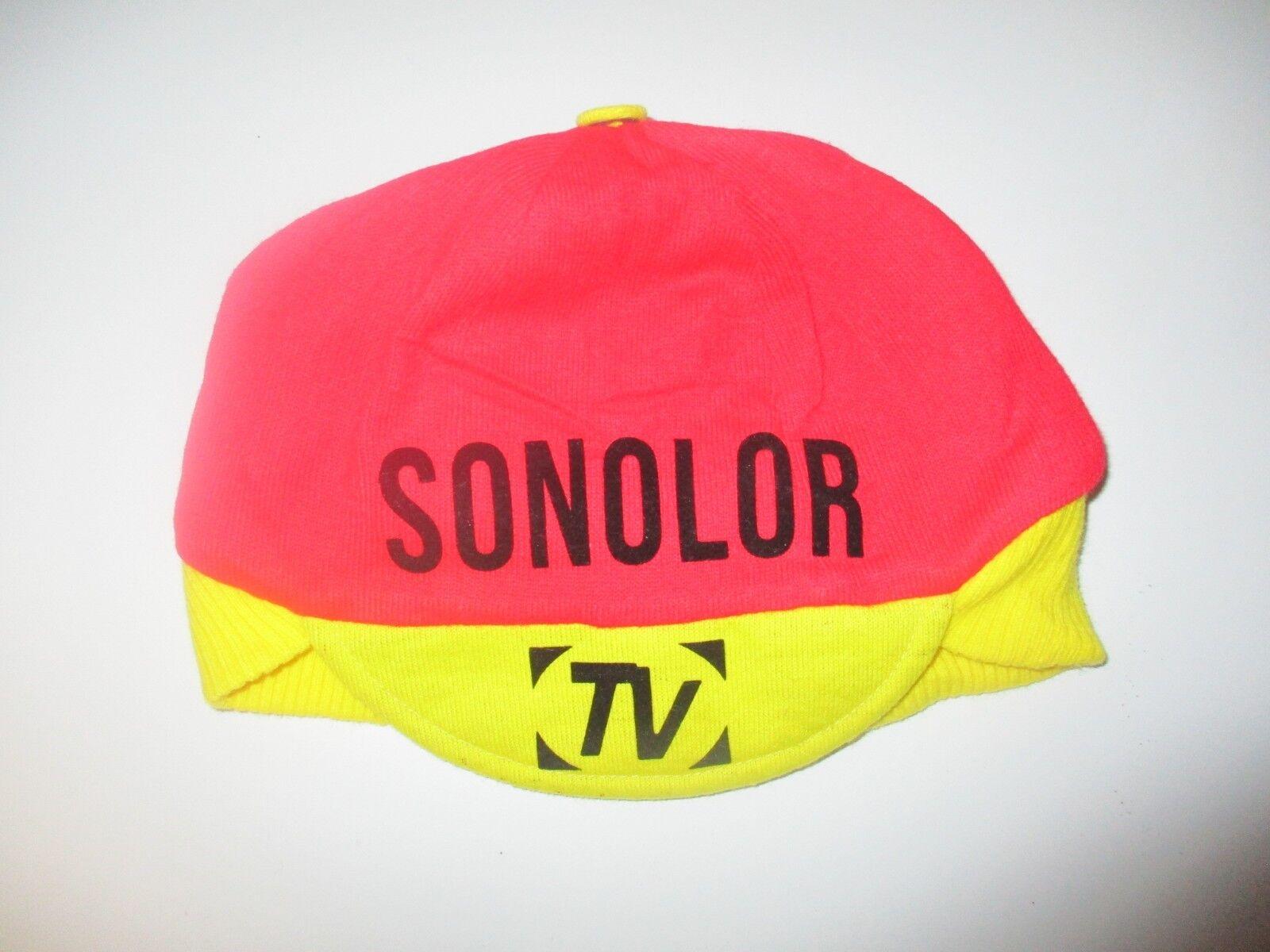 Casquette bonnet cycliste SONOLOR vintage collection années 70 hat cap oldschool