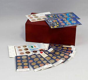 8308022-14-Kursmuenzensaetze-Europa-Euro-1999-2011-Irland-Finnland-Luxemburg