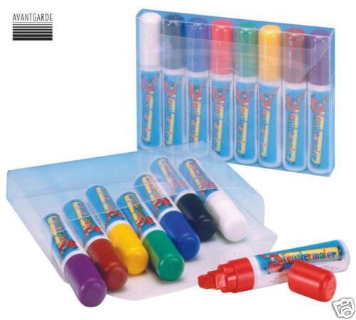 FENSTERMALER MAXI Stift für Fenster Bild Bild Bild Maler Set 8 Fensterstift Window colour 588c1e