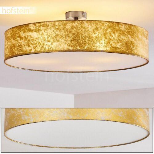 Decken Design Lampe Schlaf Ess Zimmer Fluter Wohn Büro Leuchte Stoff  gold 60 cm