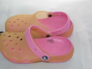 NEW NWT CROCS MARY JANES girls 1 2 3 juniors CANDY PINK shoes sandals clogs