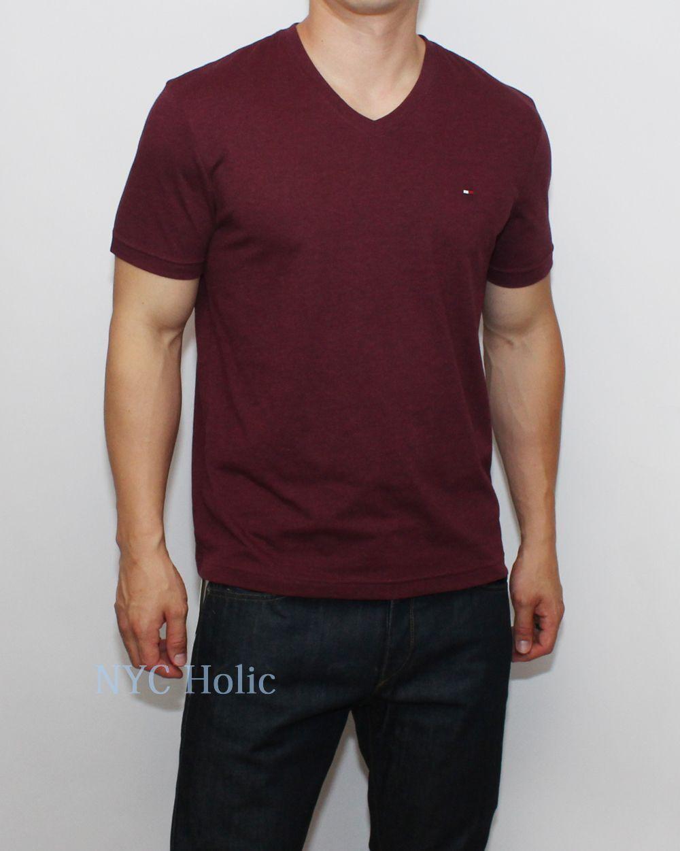 new tommy hilfiger mens classic fit v neck tee shirt t. Black Bedroom Furniture Sets. Home Design Ideas