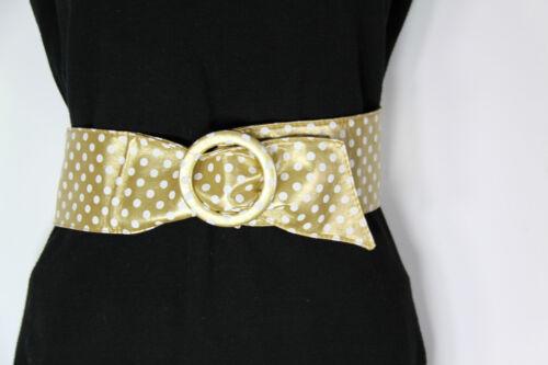 Embutir cinturón de oro con blanca puntito talla 80