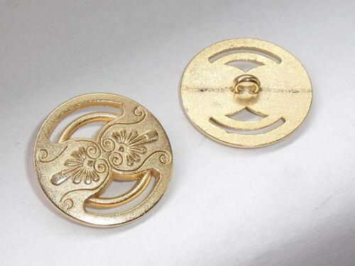 6 pieza de metal botones botón ojales botón Trachten botón de 25 mm de mercancía nueva de oro #114#