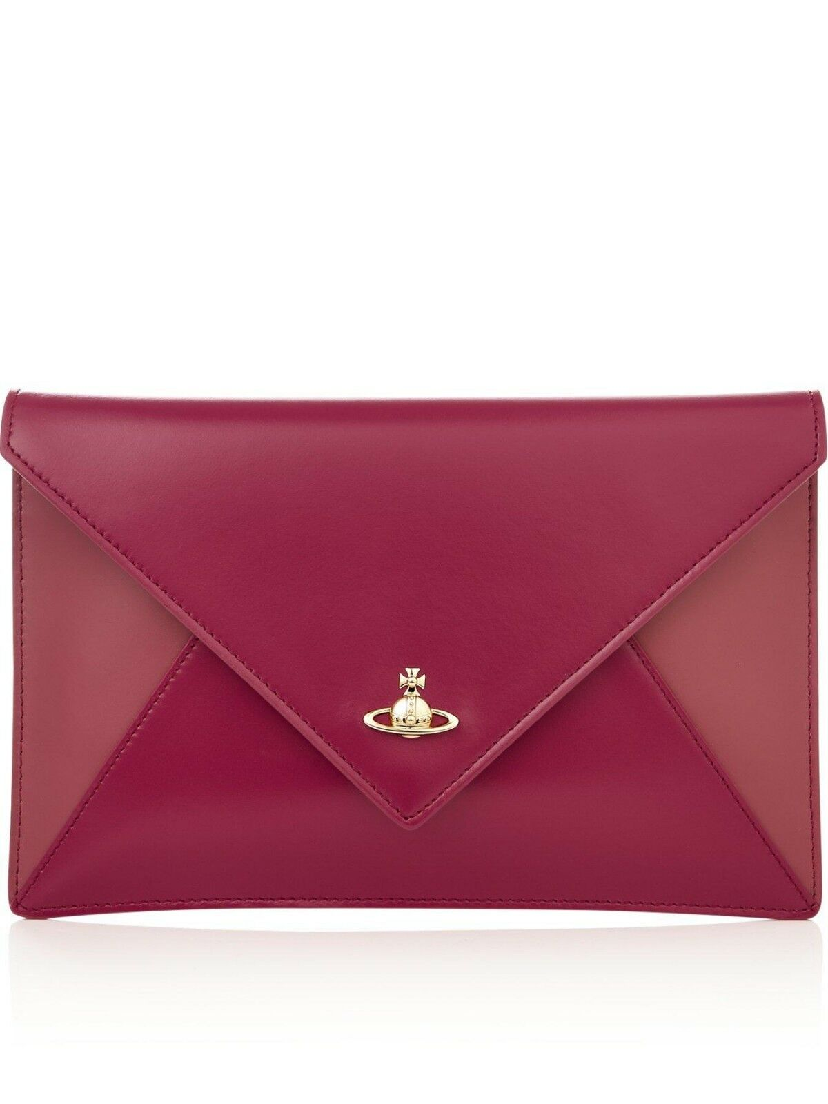 2232a1746 Vivienne Westwood Private Envelope Clutch Bag Red/pink Leather for ...