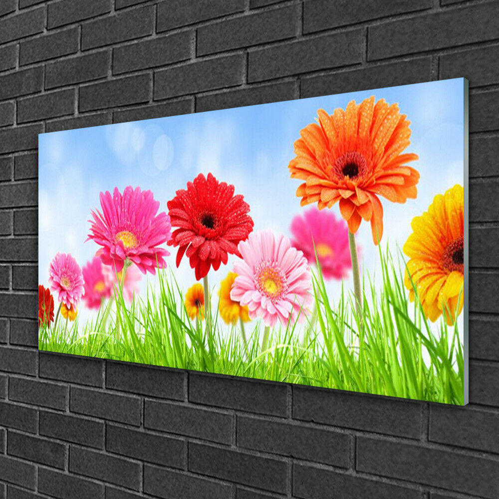 Acrylic print Wall art 100x50 Image Picture Flowers Grass Floral