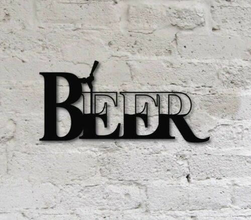 """14/"""" Beer Tap Pouring Wall Decor Metal Sign for Kitchen Bar Man Cave Game room"""