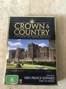 CROWN-AND-COUNTRY-A-HISTORY-OF-ROYAL-BRITAIN-5-DISC-SET-DVD-R4-AUS-RELEASE