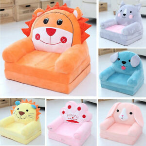 Details About Childrenu0027s Sofa Backrest Plush Toy Kids Baby Chair Infant  Foldable Seat Chair