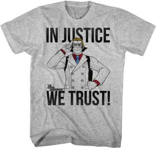 Ace Attorney Capcom Video Game Anime In Justice We Trust Adult T Shirt