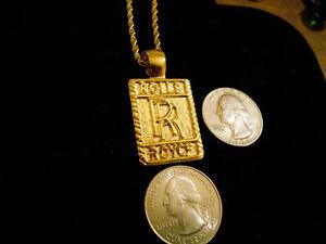 Bling gold plated car sign icon rolls royce pendant charm chain hip la foto se est cargando bling chapado en oro coche firmar icono rolls aloadofball Gallery