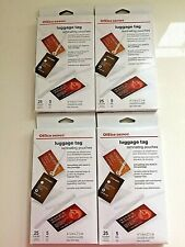Lot Of 100 Office Depot Laminating Luggage Tags Pouches 2 12 X 4 14 Clear Loop