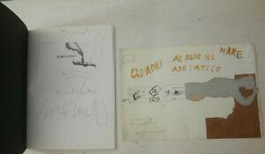 Enzo Cucchi Dedica autografa Catalogo libro mostra Firmato e invito mostra 2001