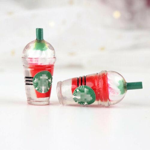 100 Pcs 1:6 Dollhouse Miniature Frappuccino Coffee Cups Mug Ice Cream Cup Model