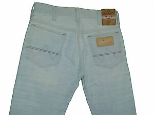 Wrangler-Jeans-Hose-fuer-Herren-in-Hellgrau-Used-Effekt-W28-L32-HJ05