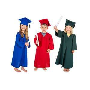 ccb3c9917dc KIDS CHILDRENS GIRLS BOYS GRADUATION GOWN CLOAK   CAP HAT COSTUME ...