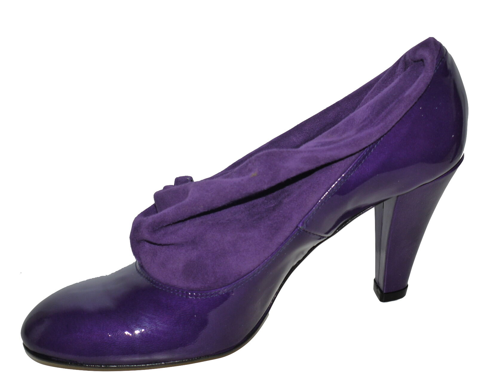 Kristel By CNV London Steampunk Court Schuhe With Suede Cuff SP