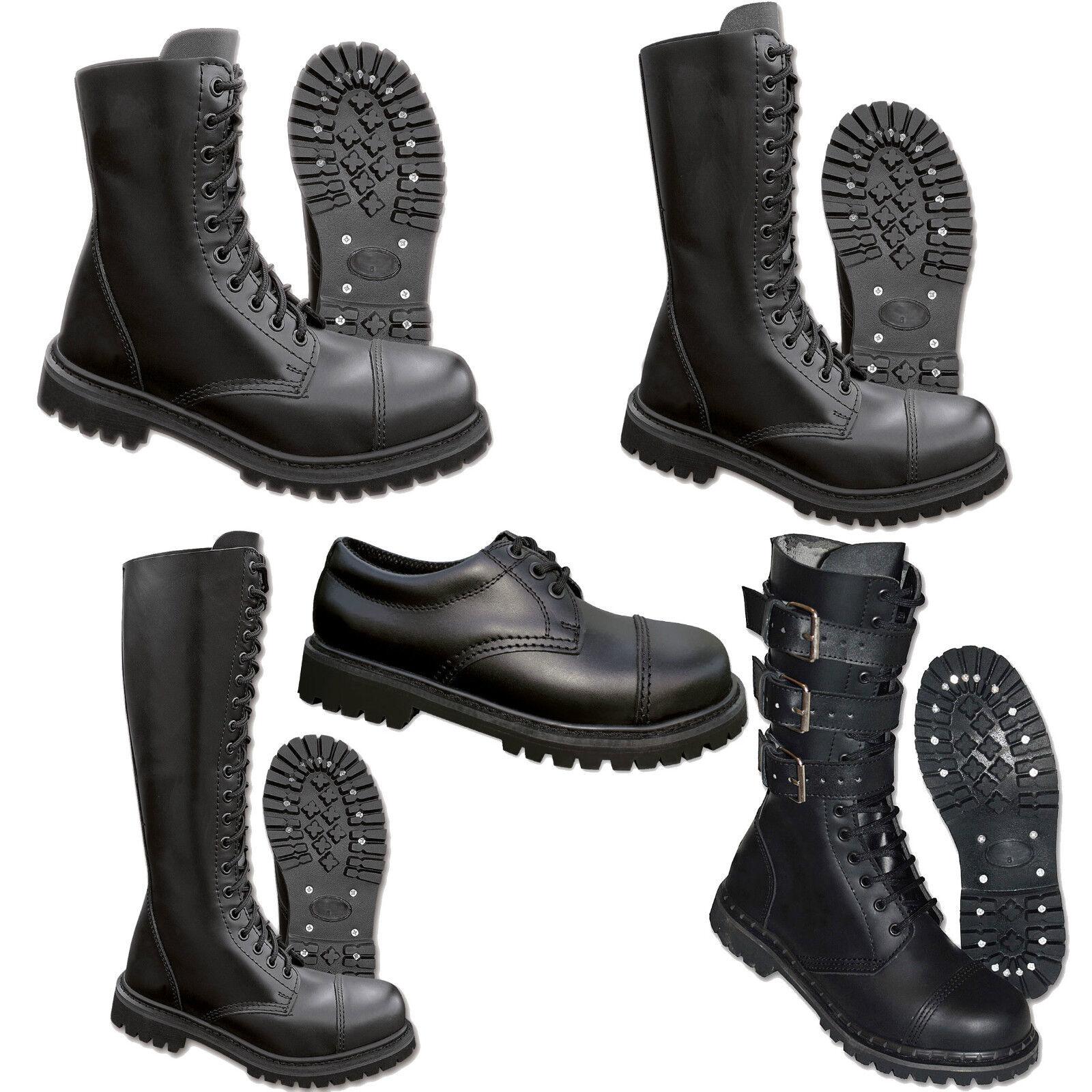 Zapatos casuales salvajes GB Ranger Fantasma Botas militares 38-47 cuero gothic Cubierta De Acero