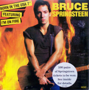 Bruce-Springsteen-Born-in-the-USA-Im-on-fire-NEW-MINT-UK-7-inch-vinyl-single