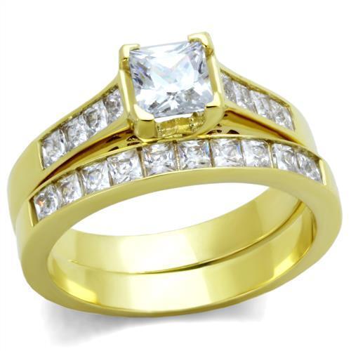 2.50 Ct Wedding Ring Set Princess Cut AAA CZ 14K Gold Plated Women/'s Size 5-10
