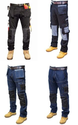 Prime Mens Work Trousers Cargo Combat Working Jeans BL-02
