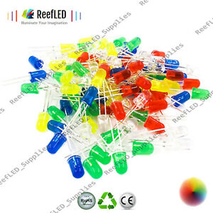 500pcs 5mm Led Diode Light Assorted Kit Diy Leds Set White Yellow Red Green Blue Electronic Components & Supplies