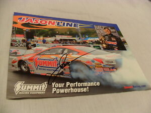 JASON-LINE-SIGNED-AUTOGRAPHED-NHRA-PRO-STOCK-SUMMIT-RACING-EQUIPMENT-PHOTO-w-COA