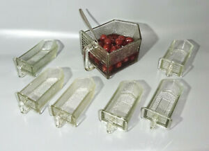 Set 7 vintage Glasschütten Gewürze Vorratsglas Behälter Küche Landhaus Shabby (2
