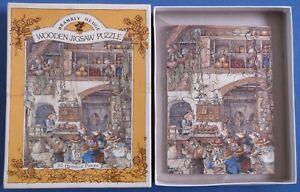 Brambly Hedge hand cut 30 pièces en bois Puzzle complete boxed Jill Barklem