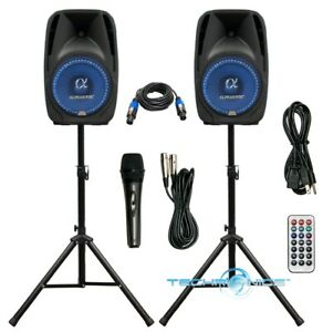 "PAIR ALPHASONIK ALL-IN-ONE 12"" POWERED 1500W PRO DJ AMPLIFIED W/ BLUETOOTH USB"